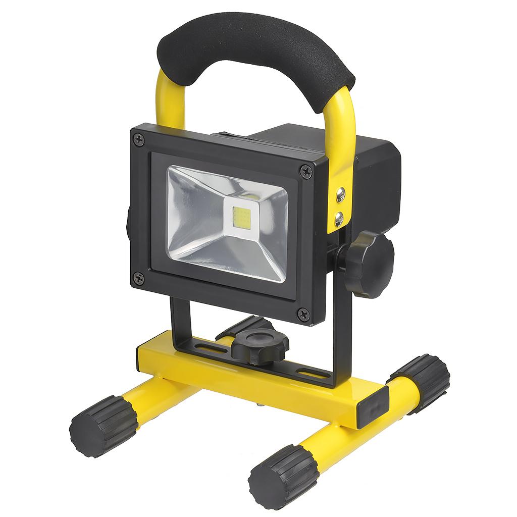 【在庫限り】LED投光器 10W 調光機能付き 充電式(38-851)の画像