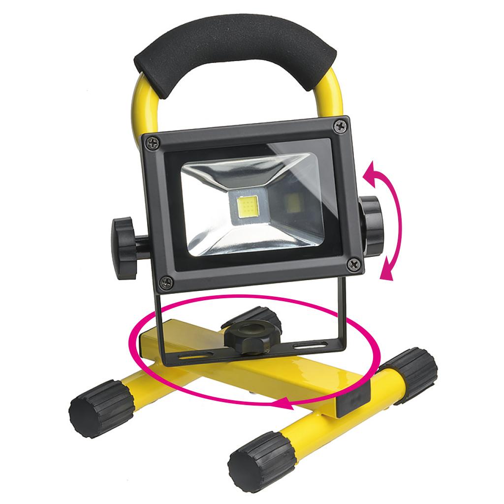 【在庫限り】LED投光器 10W 調光機能付き 充電式(38-851_1)の画像
